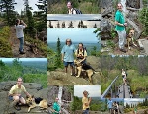 Collage of pictures from Isle Royale