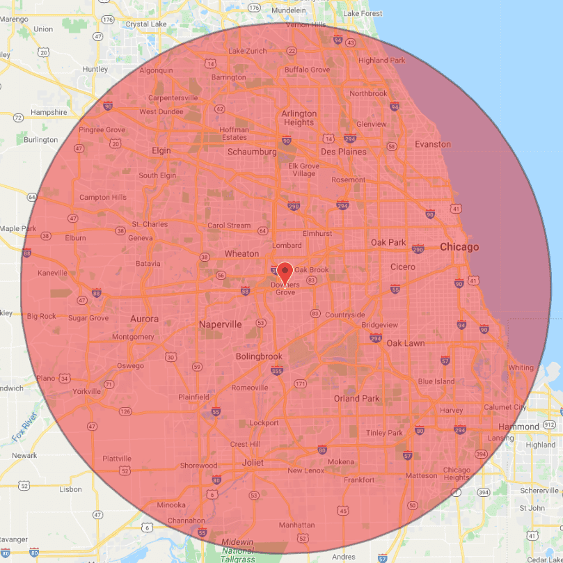 chicago electrician service map