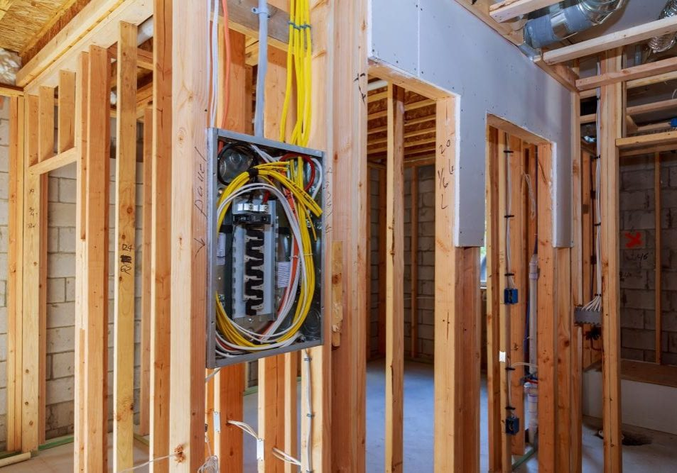 new construction electrical panel wiring